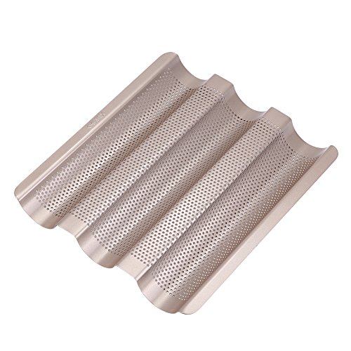 French Bread Pan  10inch French Bread Pan Baguette Baking Tray Perforated 3slot Non Stick Bake