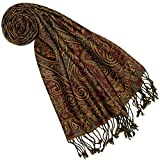 Lorenzo Cana - Damen Schal aus weicher Wolle vom Merino Lamm Paisley Muster bunt mehrfarbig 35 cm x 160 cm Wollschal Wolltuch mit Fransen fuer Frauen Damenschal 7840577