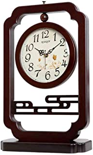 Amazon.com : Family Fireplace Clocks Desktop Watch Tablecloth Clocks Living Room Retro Solid Wood Clock Silent Decoration ó Desk n Suitable for Bedroom ...