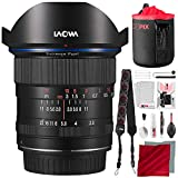 Laowa Venus Optics 12mm f/2.8 Zero-D Lens for Nikon F (Black) with Lens Pouch and Deluxe Cleaning Set Accessory Bundle