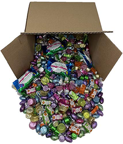 Easter Chocolate Candy - Includes: Hershey's Mini Eggs, Reese's Peanut Butter Miniatures, Reese's Peanut Butter Bunnies, Hershey's Kisses, Rolo, Russel Stover Marshmallow Eggs - 5 Pound Box from Taboom Candy