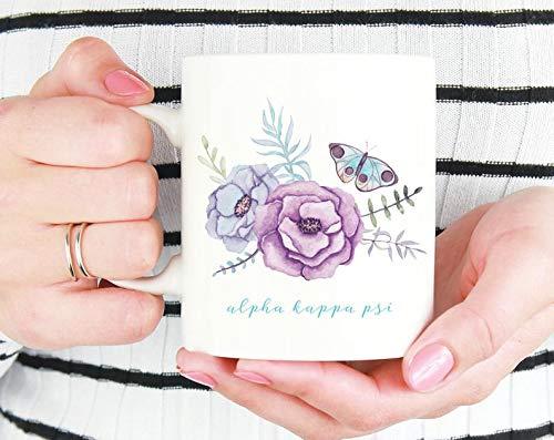 AKPsi Alpha Kappa Psi Butterfly Mug Sorority Coffee Mug