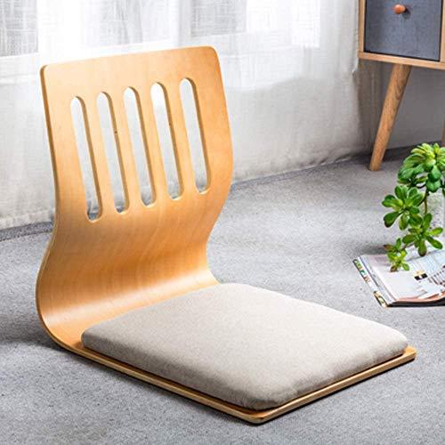 Spielstühle, Wohnzimmerstuhl, japanischer Beinloser Stuhl für Erkerfenster, Rückenlehne, Stuhl für Lazy Sofa, Spiel, Meditation, Boden, Stühle mit Rückenstütze für Erwachsene M