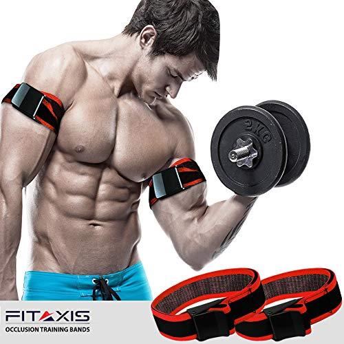 Top Gym Noir Biceps Bracelet/'S MAX Biceps débit sanguin Restriction occlusion Bandes