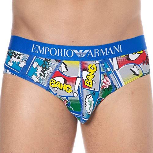 Emporio Armani Slip Mutanda Uomo megalogo Log Underwear Articolo 110814 0P509 Brief, 29333 Cartoon Print, L
