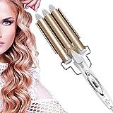 BeautyWaver - Rizador de pelo para hacer vague, wavy, curl, ondulación, 3 barras, cerámica, resultados porfesionales en casa.