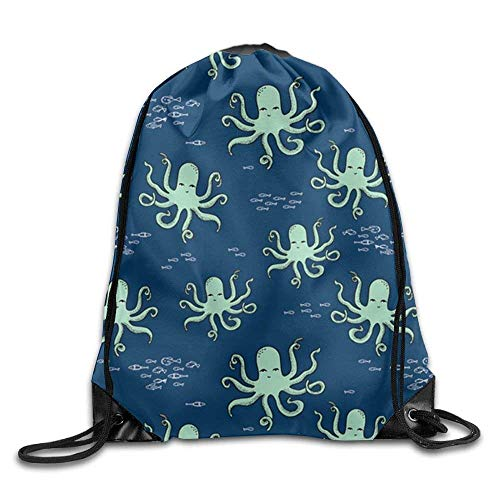 DSGFSQ Zaini Casual Drawstring Backpack Kids Adults Waterproof Bag for Gym Traveling