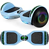UNI-SUN Hoverboard for Kids, 6.5' Two Wheel Self Balancing Hoverboards with Bluetooth and Lights for Adults, Blue Gray Hover Board