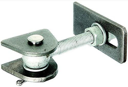 GAH-Alberts 411077 Torband für 180° Öffnung, kurze Ausführung, feuerverzinkte Schrauben und Muttern, Bolzen und Splint aus Edelstahl, Gewinde: M20
