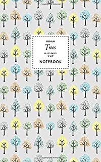 Trees Notebook - Ruled Pages - 5x8 - Premium (Grey)