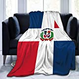 ujmki Überwurfdecke, kuschelige Fleece-Decke, warm, super weich, Geschenk für Kinder & Erwachsene, 152 cm x 127 cm, Flagge der Dominikanischen Republik