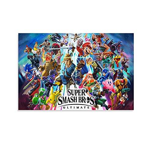 WEILEI Poster sur toile Super Smash Bros Brawl - Décoration murale - 30 x 45 cm