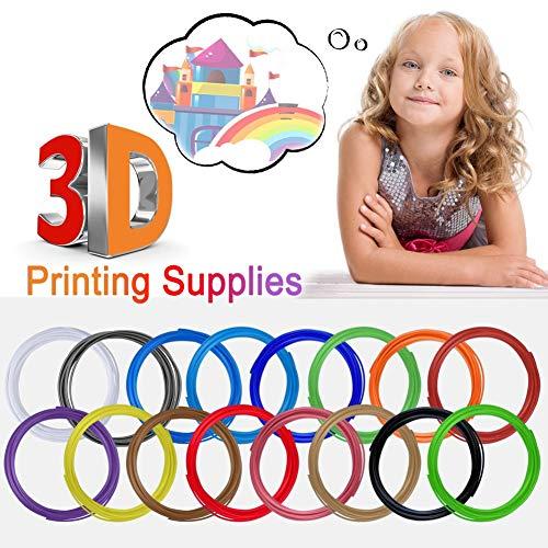 Recharge de filament, stylo de recharge de filament 3D 16 couleurs impression 3D loisirs créatifs imprimante 3D maison bricolage