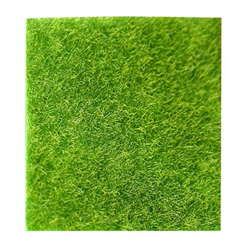 VORCOOL 1 Stück Künstliches Gartengras Lebensechte Fee Kunstrasen Rasen Miniatur Ornament Garten Puppenhaus DIY Gras (30X30 cm)