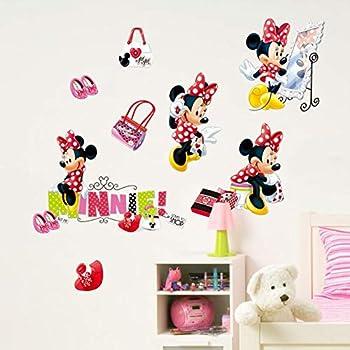 RoomMates Pegatinas de Pared Minnie Fashion Victim con Gemas 104x26x2.5 cm