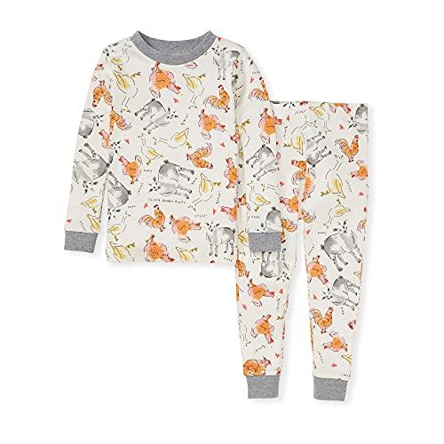 Burt s Bees Baby Baby Boys  Pajamas  Tee and Pant 2-Piece Pj Set  100% Organic Cotton  Farm Sounds  4T
