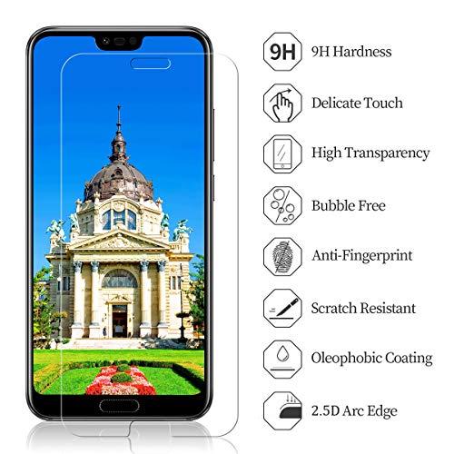 CRXOOX 3 Stück Schutzfolie für Huawei Honor 10 Panzerglas, 9H Härte HD Klar Displayschutzfolie, Anti-Kratzer/Bläschen/Fingerabdruck/Staub Einfache Installation Honor 10 Panzerglasfolie Folie - 3