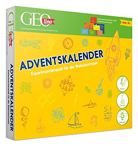 FRANZIS 67070 - GEOlino Adventskalender, 24 spannende Experimente zum Forschen und Entdecken, aus Physik, Chemie und Biologie, für Kinder ab 8 Jahren