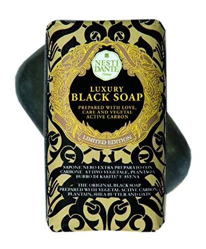 Nesti Dante Luxury Black Soap mit Aktivkohle, 250 g