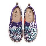 UIN Hombres de Las Mujeres Inspiración en los Zapatos de holgazán de Zapatillas de Deporte de Moda para Mujer en Lienzo Pintado de Lona Pintada de Viaje de Barcelona