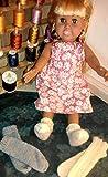 EZ Tube Socks Knitting Pattern for 18-inch/46 cm Dolls: Stockinette Socks and Ribbed Socks Patterns Included (English Edition)