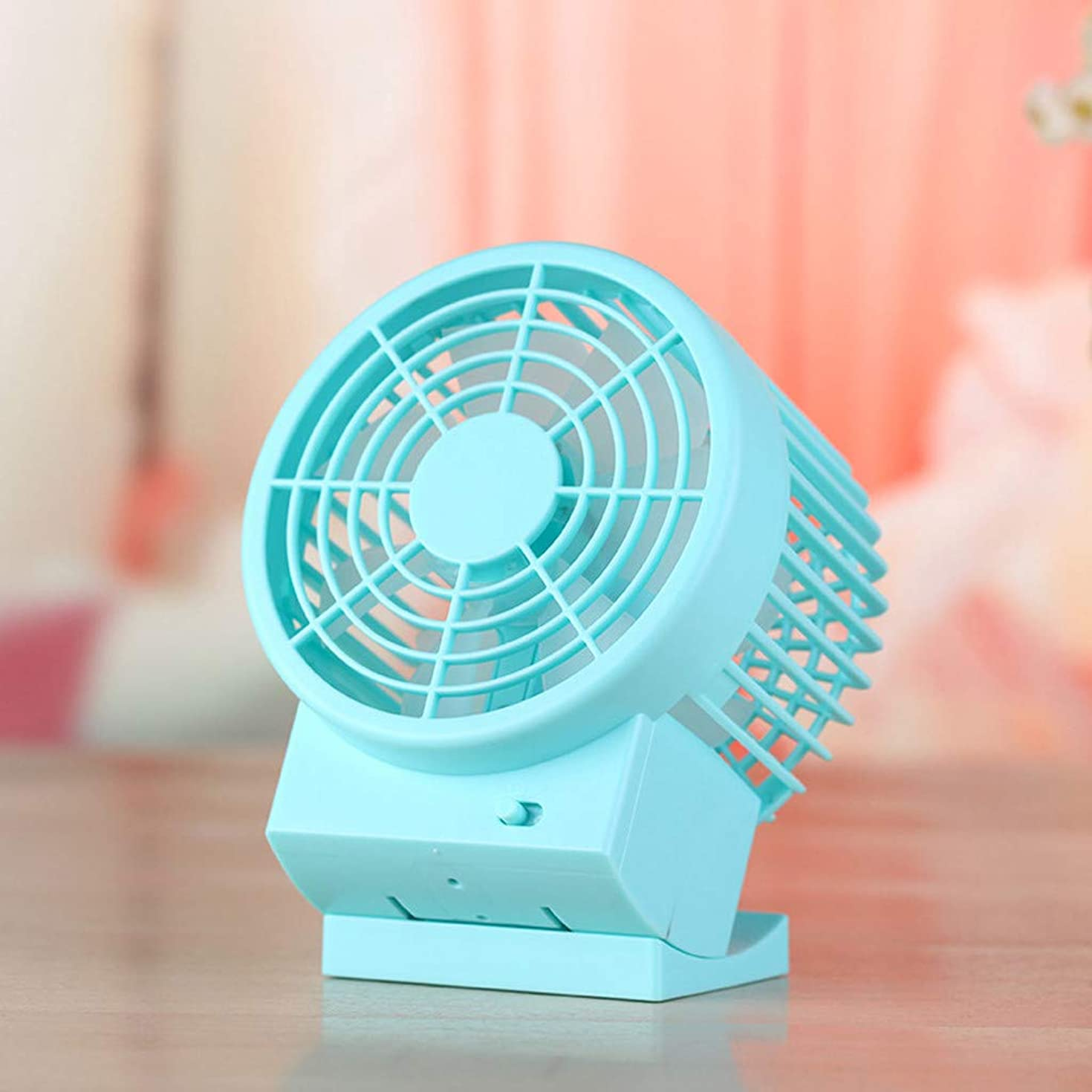 Maikouhai Portable Mini Handheld Fans Small Personal Pocket Little Fan for Home Office Bedroom Table - ABS Material, 4.72x6.02x3.39 Inch (Blue)