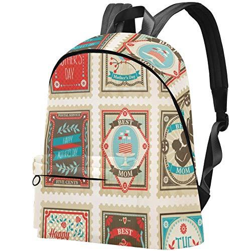 Muttertagskarte Bag Teens Student Bookbag Leichte Umhängetaschen Reiserucksack Tägliche Rucksäcke