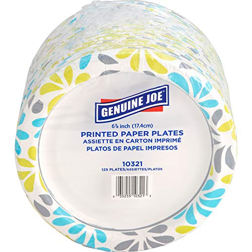 Genuine Joe Paper Plates, 7' (10321)