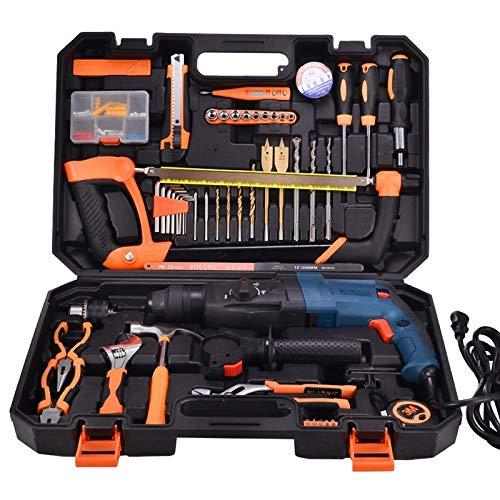 La herramienta de cocina de ayuda para el hogar pe Inicio ayudante STT-058B multifunción del hogar 58-pieza Taladro martillo eléctrico (1300W) Caja de herramientas Conjunto