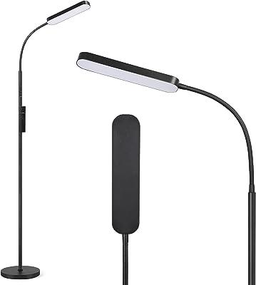 Anten Katarina | LED Lampadaire Dimmable de Luminosité et Couleur [3000K - 6000K] | 15W Lampe sur Pied avec Télécommande | Fonction Mémoire & Tactile