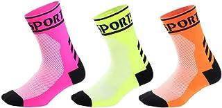 Cushion Crew Socks, No Blister, calzini sportivi traspiranti per ciclismo Running Running Trekking Gym Tracing | Calzini i...
