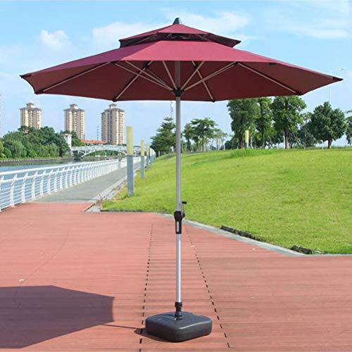 Sunbrella Patio Umbrella 9 Feet Outdoor Market Table Umbrella, 8 Sturdy Steel Ribs,with air Vent - Best Beach Umbrella (Wine red)