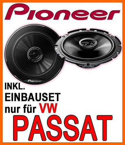 Pioneer TS-G1720F - 2-Wege 300 Watt Koax Lautsprecher - 16cm Einbauset für VW Passat 3B & 3BG - JUST SOUND best choice for caraudio