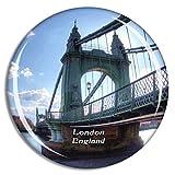 Weekino Londres Hammersmith y Fulham Bridge Reino Unido Inglaterra Imán de Nevera 3D de Cristal de la Ciudad de Viaje Recuerdo Colección de Regalo Fuerte Etiqueta Engomada refrigerador