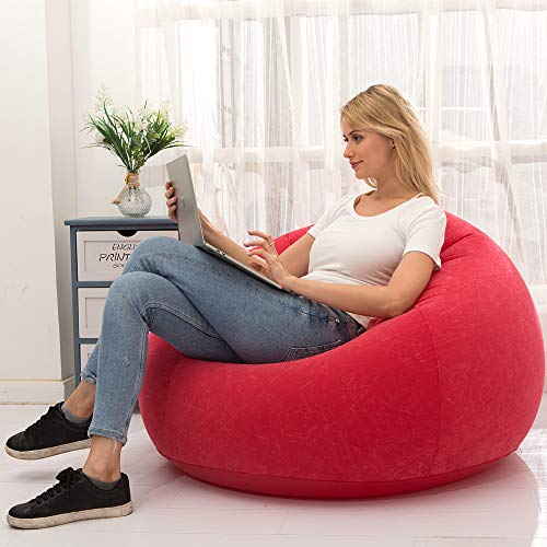 LONEEDY Sofá hinchable para tumbona, asiento de juego, interior y ext
