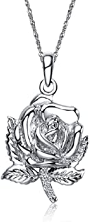 Zeta Sigma Chi Rose Silver Lavalier (M010)
