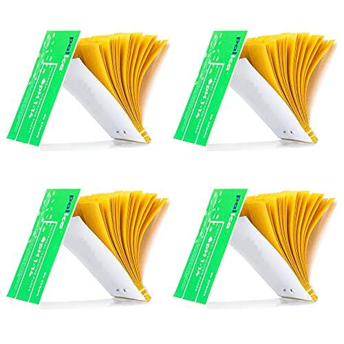 4 Packungen pH-Teststreifen, pH Indikator Papier Streifen, pH-Wert Weitbereich 1-14, Lackmuspapier (320 Streifen)