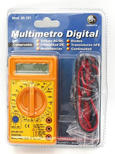 ElectroDH 60101 DH MINI TESTER CON MEDIDOR DE TRANSISTORES HFE Y DIODO