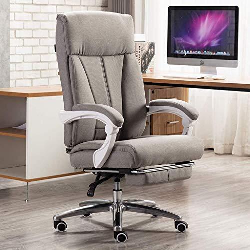MKXF Silla de Jefe reclinable, Silla de Oficina, Silla giratoria para el hogar, cómodo Asiento para el Almuerzo