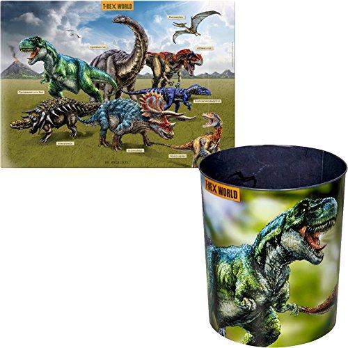 Spiegelburg T-Rex World set van 2 14539 14566 prullenbak + bureaublad