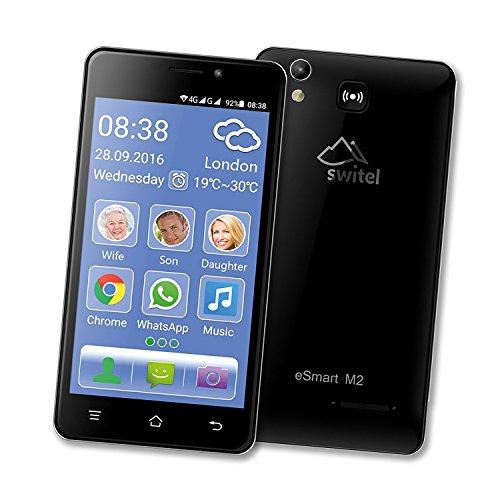 Móvil Smartphone para mayores con volumen y Suoneria amplificati extra forte compatible aparatos audífono M4T4botón SOS Emergencia Medicinal Dual SIM Pantalla 5Cámara Quad Core RAM 1GB FLASH 8GB