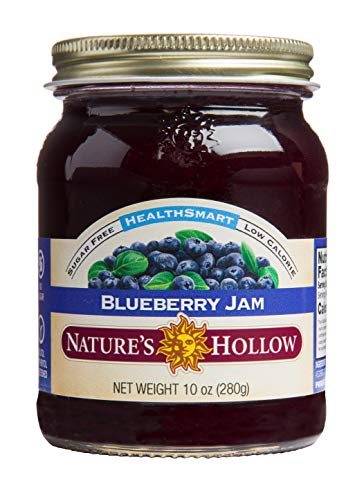 Nature s Hollow, Sugar-Free Blueberry Jam Preserves, on GMO, Keto Friendly, Vegan and Gluten Free - 10 Ounce