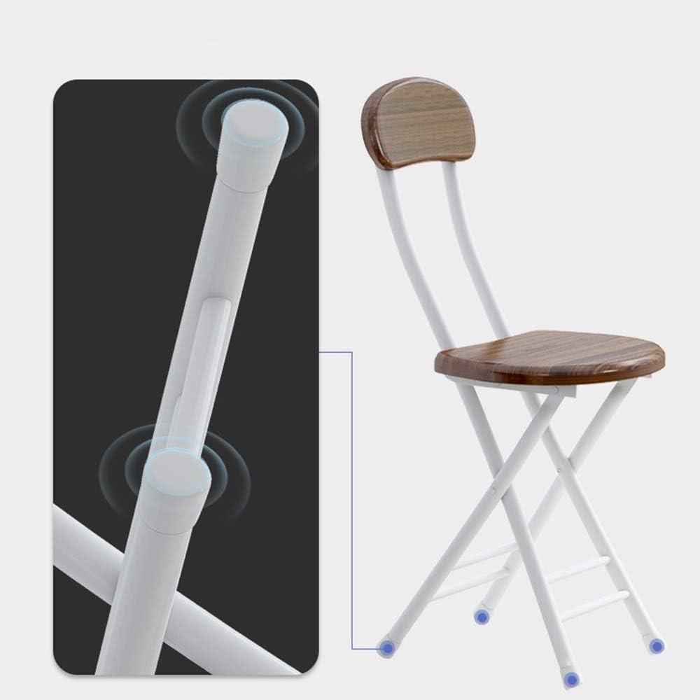 XF Chaise Pliante Portable Adulte Dossier Tabouret Moderne Simple Maison Chaise en métal Table à Manger Tabouret Equipement de Voyage en Plein air (Color : I) B