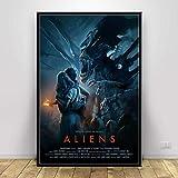 ysldtty Pintura sobre Lienzo Alien Movie Series Classic Horror Film Art Seda Poster Wall Home Decor NF658H Sin Marco 40cmx60cm