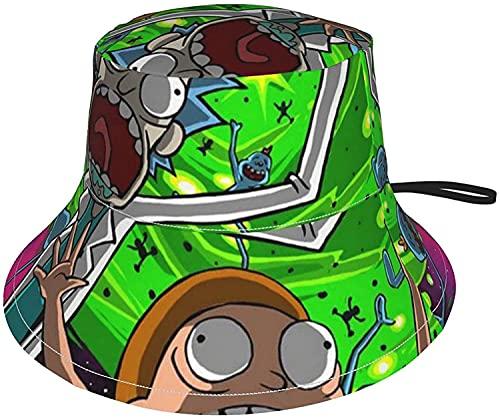 KEROTA Rick and Morty - Sombrero de sol transpirable para pescador, plegable, visera suave, sombrero de verano, playa, al aire libre, para niños, niñas, bebés, niños y bebés