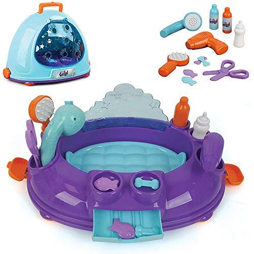 Hauck Toys For Kids FurReal Schönheitssalon Grooming Box - Transport Box für Kuscheltiere und FurReal Friends - Lila Blau