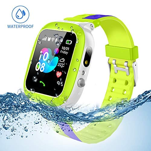 Jsbaby Kids smartwatch Waterproof with LBS/GPS Tracker Smart Watch Phone 3-12 SOS Camera for Boys Girls Game Watches