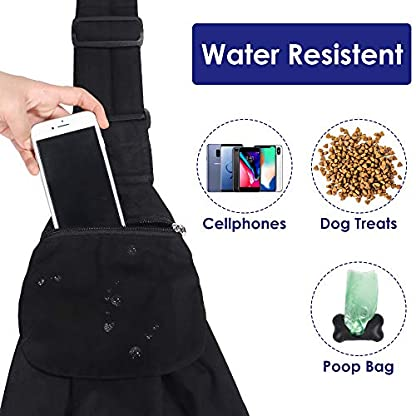 SlowTon Pet Carrier, Dog Cat Hand Free Waterpoof Sling Carrier Shoulder Bag Adjustable Strap Tote Bag with Front Pocket Safety Belt Outdoor Travel Puppy Carrier for Daily Use 4