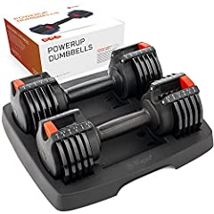 Lifepro 15lb Adjustable Dumbbell Set - Home Workout Equipment, Adjustable Weights for Strength Training, Adjustable Dumbbells Set for Muscle Building - Light 2.5 lb-15 lb Dumbbells Set of 2