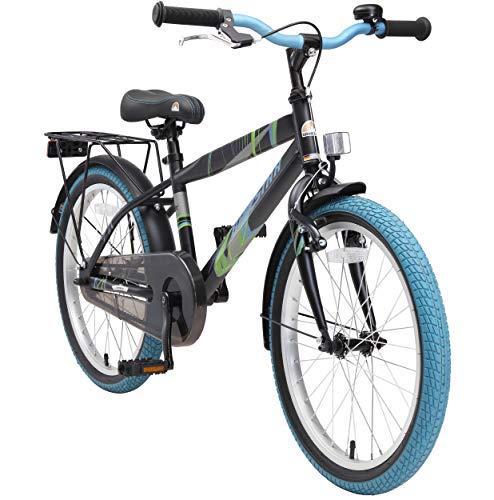 BIKESTAR Kinderfahrrad 20 Zoll für Jungen ab 6-7 Jahre | 20er Kinderrad Modern | Fahrrad für Kinder Schwarz & Blau | Risikofrei Testen